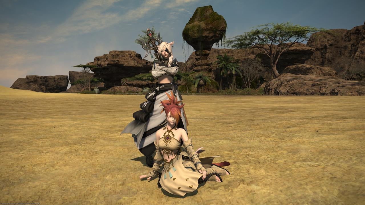 Kakysha and Deithwen posing for an image